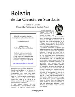 1999 - Facultad de Ciencias - Universidad Autónoma de San Luis