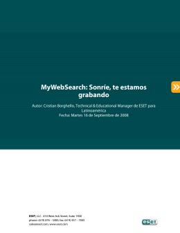 080816 - MyWebSearch, sonrie te estamos grabando