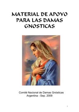MATERIAL DE APOYO PARA LAS DAMAS GNOSTICAS