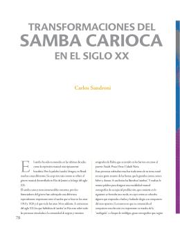 SAMBA CARIOCA - Departamento Cultural