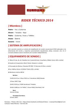 RIDER TÉCNICO 2011 - R un a way