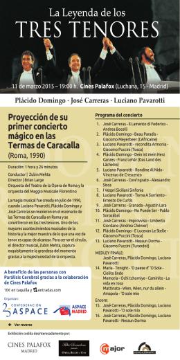 Proyección de su primer concierto mágico en las Termas de Caracalla