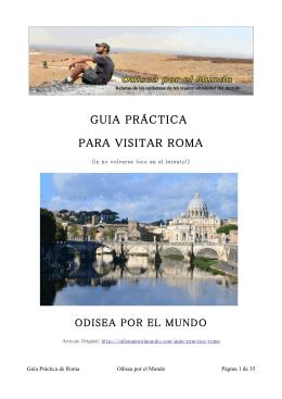 GUIA PRÁCTICA PARA VISITAR ROMA
