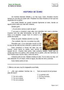 HISTORIA DE ÍCARO