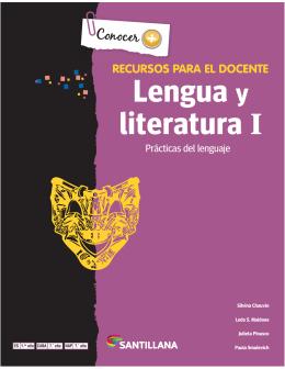 Lengua y literatura I - Ediciones Santillana