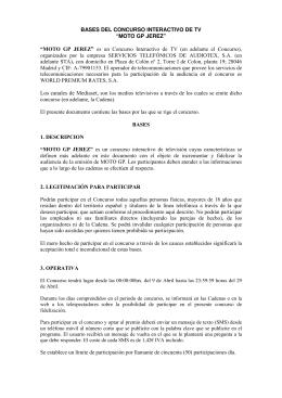 """""""MOTO GP JEREZ"""" es un Concurso Interactivo de TV"""