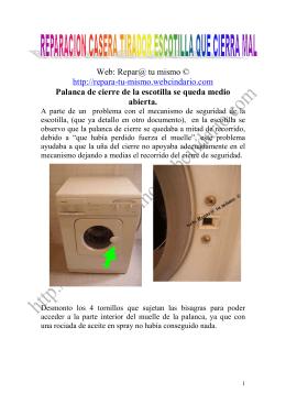 REPARACION CASERA PALANCA ESCOTILLA