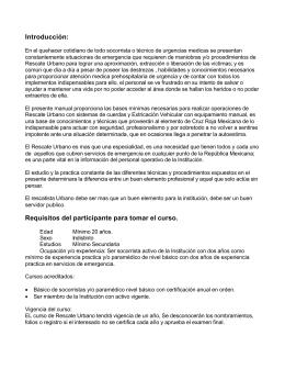 Manual de Rescate Urbano Basico Cap I