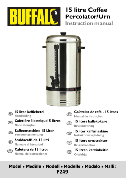 15 litre Coffee Percolator/Urn