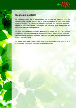 Magnesio Quelato: