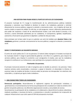 Programa C`s Palma - Ciudadanos | Baleares