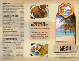 Open Menu as PDF - Tropical Cuisine