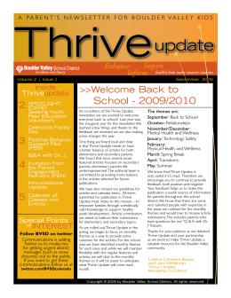 update - Schools - Boulder Valley School District