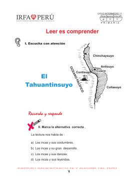 Leer es comprender El Tahuantinsuyo