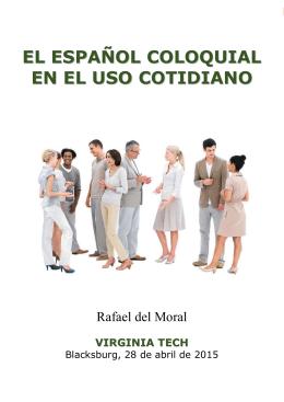 EL ESPAÑOL COLOQUIAL EN EL USO COTIDIANO