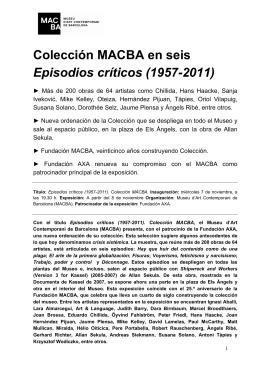 Colección MACBA en seis Episodios críticos (1957