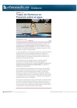 Andalucía Trajes de flamenca en Pasarela sobre