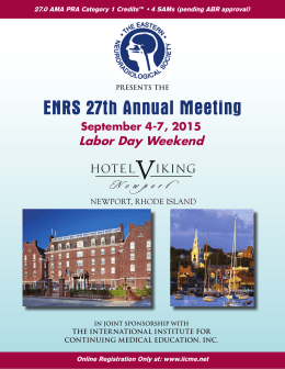 ENRS 27th Annual Meeting - Eastern Neuroradiological Society