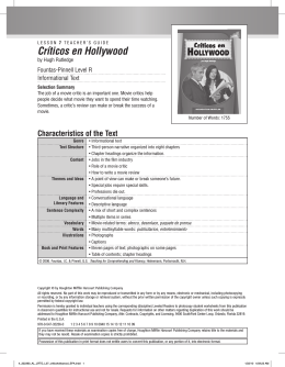 Críticos en Hollywood - Houghton Mifflin Harcourt