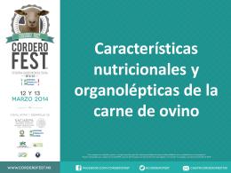 Características nutricionales y organolépticas de la carne de ovino