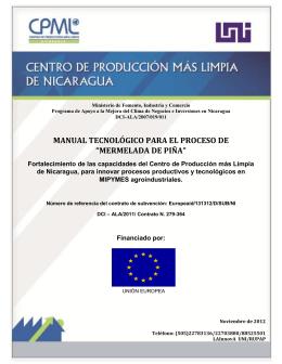 MANUAL TECNOLÓGICO PARA EL PROCESO DE