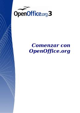 Comenzar con OpenOffice.org 3.x