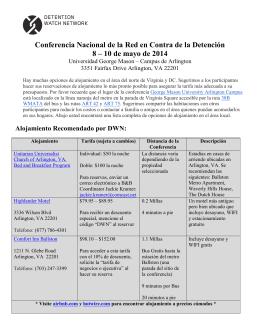 Conferencia Nacional de la Red en Contra de la Detención 8 – 10