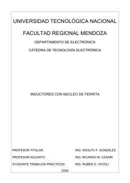 Con núcleo de ferrite - UTN - Universidad Tecnológica Nacional