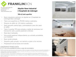 Alquiler Nave Industrial L`Hospitalet de Llobregat