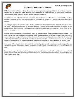HISTORIA DEL MINISTERIO DE PANDEROS