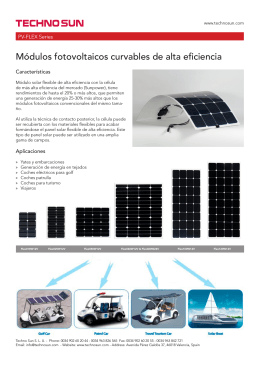 Techno Sun - Módulos solares curvables flexibles de alta eficiencia