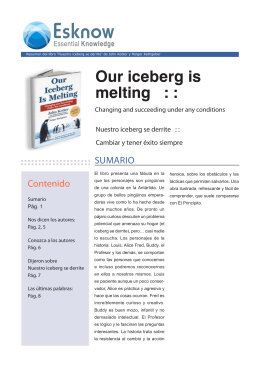 Our iceberg is melting : :