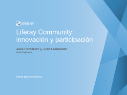 Liferay Community: innovación y participación