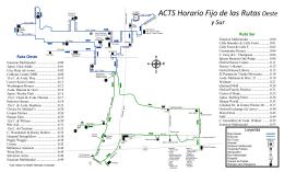 ACTS Horario Fijo de las RutasOeste