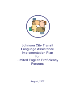 Johnson City Transit Language Assistance Implementation Plan for