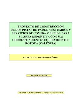 proyecto de construcción de dos pistas de padel