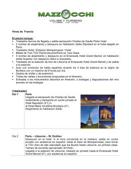 CONTACTO CLIENTE: - ++ Agencia de Viajes Mazzocchi