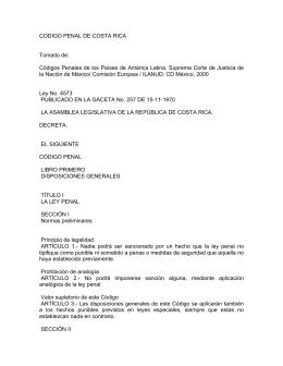 Código Penal de Costa Rica