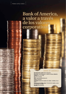 Bank of America, a valor a través de los valores corporativos
