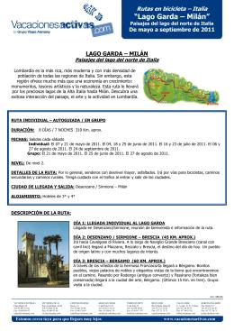 """""""Lago Garda – Milán"""""""