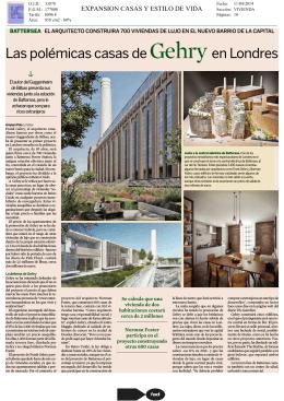 Las polémicas casas de Gehry en Londres
