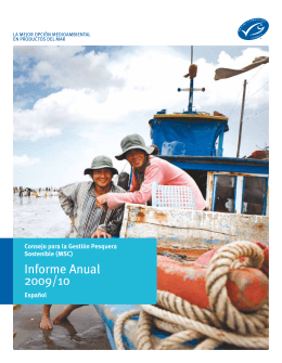 Informe Anual 2009/10 - Marine Stewardship Council