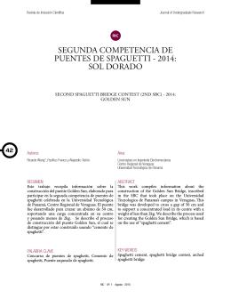 Segunda Competencia de Puentes de Spaguetti
