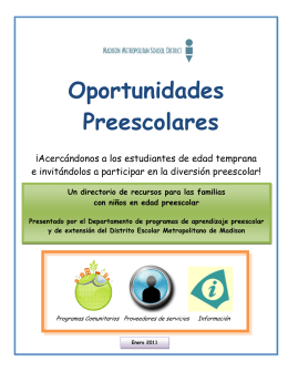 Oportunidades Preescolares - Early & Extended Learning