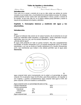 Taller de líquidos y electrolitos. Dr. G López Castellanos Medicina