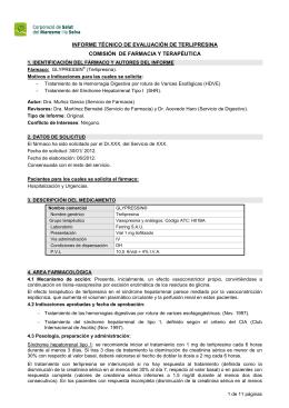 informe técnico de evaluación de terlipresina comisión de farmacia