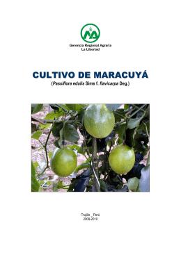MANUAL DEL CULTIVO DE MARACUYA