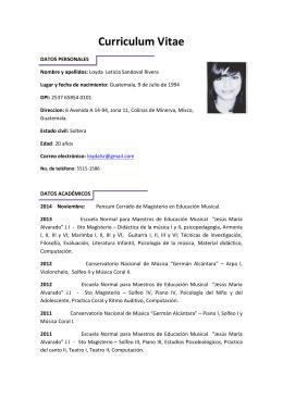Curriculum Vitae - Trabajar en el Liceo Fráter
