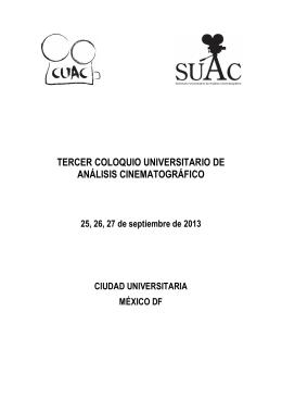 FORMATO CUAC2013 - V Coloquio Universitario de Análisis