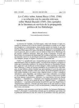 Les Cobles sobre Antoni Roca (1544, 1546) y su relación con la